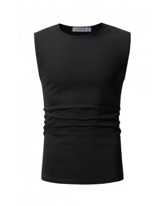 Lovely Casual Black Cotton Vest