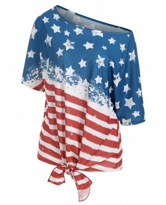 American Flag Multiway Tunic T-shirt -  S